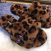 Ugg female leopard slippers Shoes Boots
