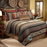 Veratex Santa Fe 4-pc. Comforter Set (Orange)