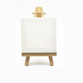 Mini Easel Mini Canvas Art Easel Mini Painting Easel Wooden Easel Small Display Stand Tiny Art Small Display Small Painting Easel and Canvas
