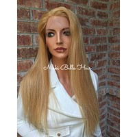 """Dark blonde Human Hair Multi Parting lace Front wig 22"""""""