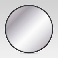 Decorative Circular Wall Mirror - Black - Project 62™