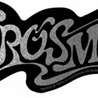 Aerosmith Vinyl Sticker Chrome Letters Logo