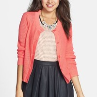 BP. Cropped Textured Cotton Cardigan (Juniors)