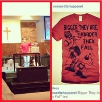 "My dude @disciplekyle rockin the ""Bigger They Are, Harder They ... - crossstitchapparel @ Instagram Web Interface - 5th village"