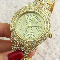 MK tide brand fashion men and women watch F-Fushida-8899 Gold