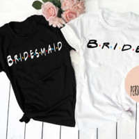 Bride and bridesmaid shirts