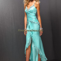 Sexy light blue strap floor-length prom gown dress 6093,Beautiful Prom Dresses