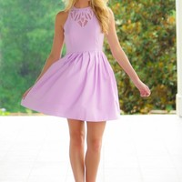 EVERLY:Entertaining The Thought Dress-Lilac