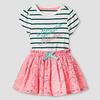 Baby Girls' Bodysuit and Skirt Baby Cat & Jack™ - Green/Pink