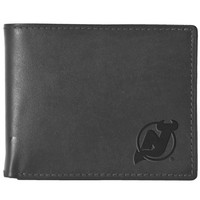 Pangea Black Leather Wallet - New Jersey Devils