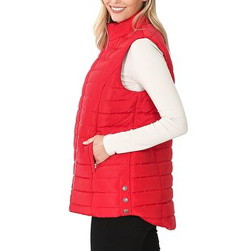 Reversible Sherpa Lined Quilted Padded Long Sleeve Jacket with Pockets