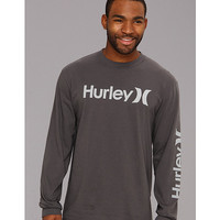 Hurley One & Only Classic L/S Shirt Cinder - Zappos.com Free Shipping BOTH Ways
