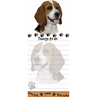 Beagle Tall Magnetic Notepad