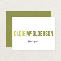 Oldie McOlderson Printable Birthday Card A2 / Funny Birthday Card