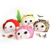 Kitty Face Round Pouch