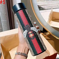 LV Louis Vuitton X MCM X Hermes Intelligent Digital Display Water Cup Temperature Measuring Thermos 304 Stainless Steel Male And Female Filter Tea Cup Thermos Colorful