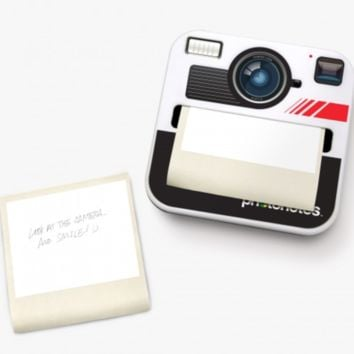 Camera Shaped Sticky Notes with Polaroid Dispenser