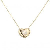 """14k Two Tone Sweet 15 Necklace - 1"""" Extension"""