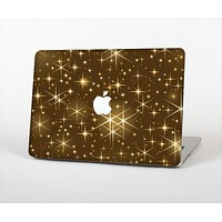 """The Golden Glowing Stars Skin Set for the Apple MacBook Pro 13"""" with Retina Display"""