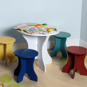 Multi-Color Kids Table Set (8564) - Illuminada
