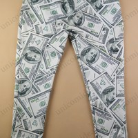 Mens Womens Victorious Print Jogger 3D White Money Cash Dollar emoji Sweat Pants