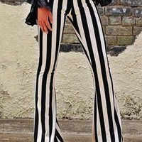 Stripe Flared Leggings
