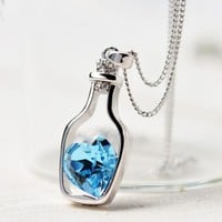 Love in a Bottle - Crystal Necklace
