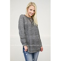 Stone Wash Eyelet Sia Sweater