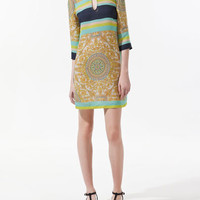 DRESS WITH GOLD PATCH
