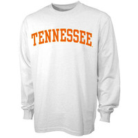 Tennessee Volunteers White Vertical Arch Long Sleeve T-shirt