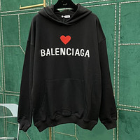 Balenciaga new men's and women's love letter logo loose long-sleeved plus size top