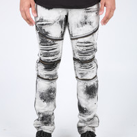 The Project Destroyed Moto Denim in Grey
