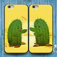 Funny Cactus Couple Pair Case Cute Phone Case iPod Touch iPhone Hug Kiss Family