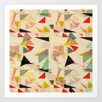 between shapes Art Print by SpinL