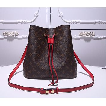 LV Louis Vuitton OFFICE QUALITY MONOGRAM CANVAS NEONOE INCLINED SHOULDER BAG