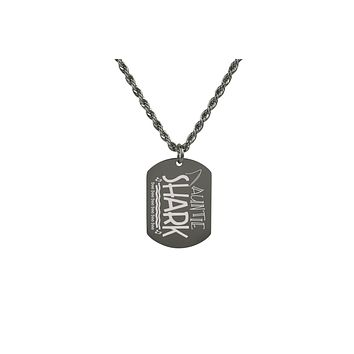 Shark Family Tag Necklace By Pink Box