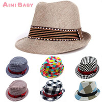 Fashion Mixing Style Baby Hat Baby Cap For Child Hat Lovely Jazz Cap For Boy Girl Hat Newborn Photography Prop Trilby