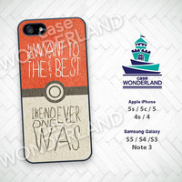 Pokemon iPhone 5 case, iPhone 5C Case, iPhone 5S case, Pocket Monster iPhone 4 4S, Cartoon Samsung S3 S4 S5 Note3 - PM01