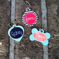 Personalized Dog or Cat ID Tag - Monogram Your Pet - Dog or Cat Tag - Design Your Own - Made in USA