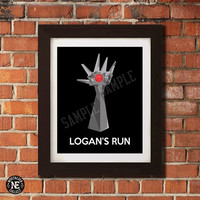 Logans Run Poster - Tower Hand - Sizes 5X7 8X10 12X18 16X20 - Wall Art