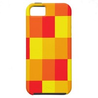 Sunny rectangles pattern iPhone 5 case from Zazzle.com