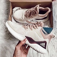 Hipgirls Adidas AlphaBounce Beyond Men's and Women's ‮Net‬Face Casual Running Shoes