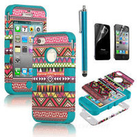 iphone 4 hybrid case in Cell Phone Accessories   eBay