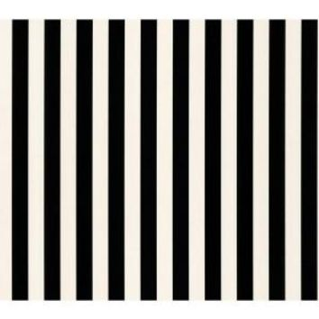 The Wallpaper Company, 56 sq. ft. Black and White Stripe Wallpaper, WC1283257 at The Home Depot - Mobile