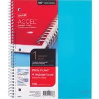 Staples Accel Durable Poly Cover Notebook, Teal, 8-1/2