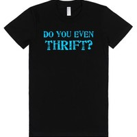Vintage store addicts. Do you even thrift?-Female Black T-Shirt
