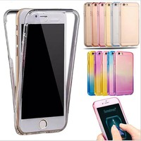 Phone Case For iPhone 6 Case 6S 6 7 Plus Luxury Soft TPU Silicone 360 Full Body Protective Phone Cases For iPhone 7 Case 5 5S