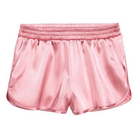 Satin Shorts - from H&M
