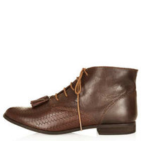 MO Woven Vamp Tassle Boot - View All  - Shoes