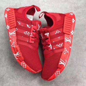 adidas NMD x LV Louis Vuitton Boost Fashion Trending Leisure Running Sports Shoes